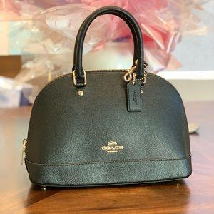 Coach mini Sierra Satchel black leather handbag
